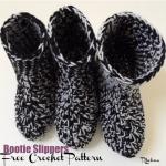 Bootie Slippers by Rhelena of CrochetN'Crafts