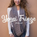 Yenni Fringe Scarf by Rebecca Langford of Little Monkeys Crochet