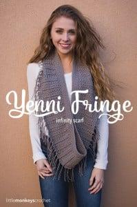 Yenni Fringe Scarf by Rebecca Langford of Little Monkeys Crochet