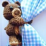 Curtain Hugging Crochet Bear by Stitch11 for Stitch & Unwind