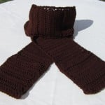 Chocolate Pocket Scarf by Crochet is the Way