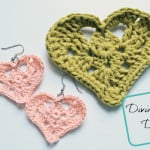 Kylie Heart Applique & Earrings by Divine Debris