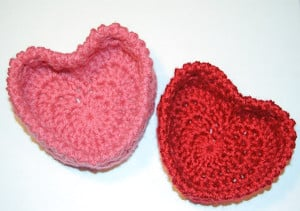 Hugs and Kisses Heart Baskets by Petals to Picots