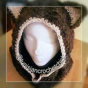 Tunisian Husky Cowl by Nicole Cormier of Tunisian Crochet Chick