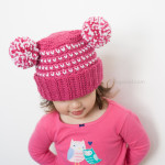 Lolly-Poms Sweetheart Crochet Beanie by One Dog Woof