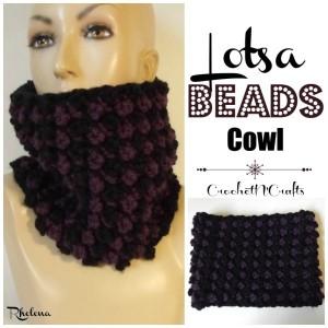 Lotsa Beads Cowl by Rhelena of CrochetN'Crafts