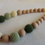 Crochet Covered Beads Necklace by Amigurumi Barmy