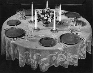 Round Table Tablecloth by Free Vintage Crochet