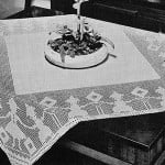 Figures-in-Filet Tablecloth #7153 by Free Vintage Crochet
