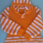 Half Double Crochet Hoodie Sweater by aamragul of Crochet/Crosia Home