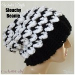 Winter Drifts Slouchy Beanie by Rhelena of CrochetN'Crafts