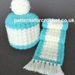 Toddlers hat and Scarf by Patterns For Crochet