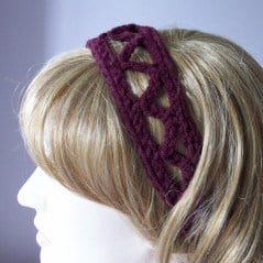 Zig Zag Headband by Rhelena of CrochetN'Crafts