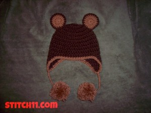 0-3 Month Bear Hat by Stitch11