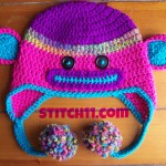 Neon Child Monkey Hat by Stitch11