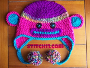 Neon Child Monkey Hat by Stitch11