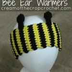 Bee Ear Warmers by Cream Of The Crop Crochet