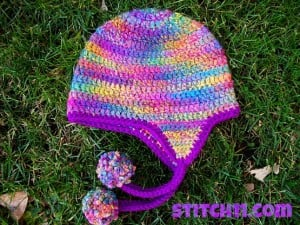 Curly Q - Earflap Hat by Stitch11
