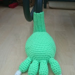 Yarn Bombing Monster Bench Foot 2 by Crochet Addict