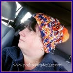 Fuzzy Top Broncos Colors Beanie by Sara Sach of Posh Pooch Designs