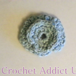 Curl & Swirl Button Flower by Crochet Addict