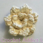 Rose Button Flower by Crochet Addict