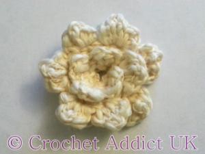 Rose Button Flower by Crochet Addict