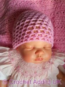 Baby Spring Beanie Hat - Newborn to 12 months by Crochet Addict