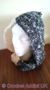 Night and Day Hooded Cowl by Crochet Addict