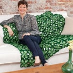 Four Leaf Clover Throw by Shari White for Red Heart