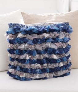 Rows of Ruffles Pillow by Gloria Tracy for Red Heart
