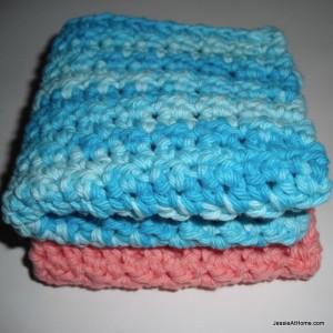 Textured Cotton Washcloth Spa Set by Jessie At Home