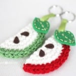 Apple Slice Keychain by Repeat Crafter Me