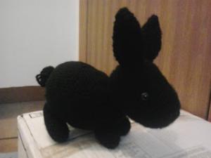 Black Rabbit by Crochet Fanatic