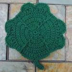 Clover Dishcloth by Aurora Suominen of DragonFlyMomof2 Designs