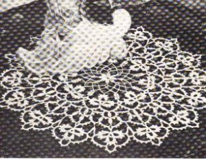 Clover Leaf Doily by MomsLoveOfCrochet