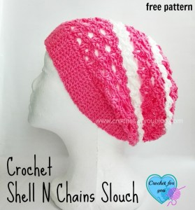 Shell N Chains Slouch by Erangi Udeshika of Crochet For You