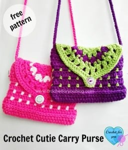Cutie Carry Purse by Erangi Udeshika of Crochet For You