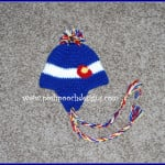 Colorado Flag Ear Flap Beanie Hat by Sara Sach of Posh Pooch Designs