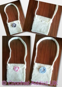 Dress It Up Quick and Easy Shoulder Bag by Crochet Addict