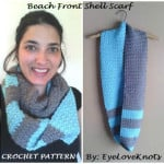 Beach Front Slanted Shell Infinity Scarf by EyeLoveKnots