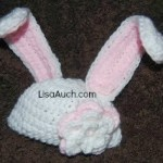 Easter Bunny Ears Baby Hat by Free Crochet Patterns and Designs by LisaAuch