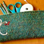 Felted Hook Pencil Case by Petals to Picots