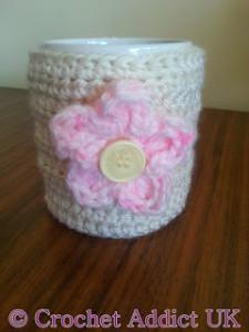 Flower & Mug Cosy by Crochet Addict