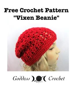 """""""Vixen Beanie"""" by Goddess Crochet"""