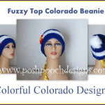 Fuzzy Top Colorado Flag Beanie by Sara Sach of Posh Pooch Designs