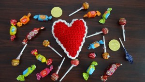 Crochet Heart Decoration or Pin Cushion by Meladora's Creations