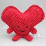 Cuddly Crochet Heart by Repeat Crafter Me