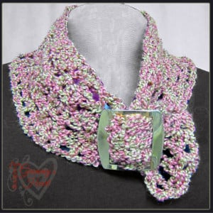 Icy Lace Collar by Designs from Grammy's Heart, with Love