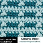 Colorful Stripes Crochet Stitch Tutorial by Oombawka Design